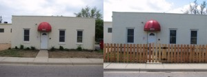 Pickens Fence Before and After