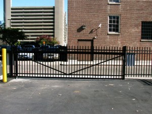 Commercial aluminum fence by Pickens Fence