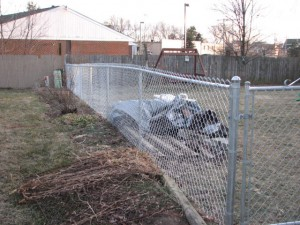 Residential chainlink fence by Pickens Fence