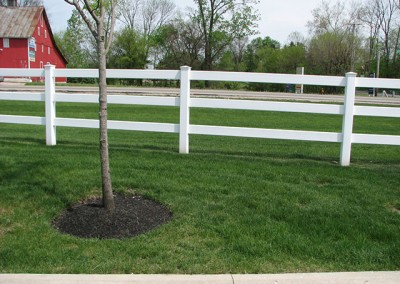 03-Residential vinyl split rail fence in Canal Winchester