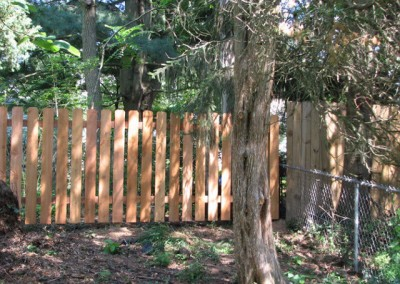 05-Residential chainlink and wood fence in Canal Winchester