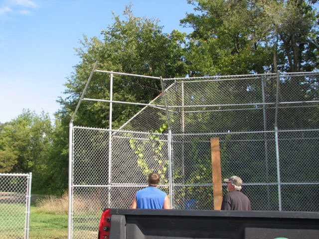 10-Commercial chainlink backstop in Groveport