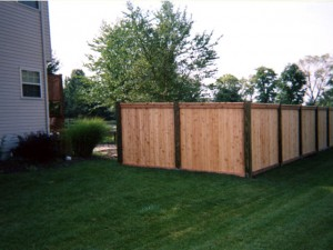 Capped Privacy Fence in Pickerington